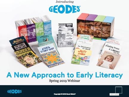 Geodes Early Literacy Webinar